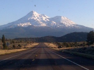 Mt Shasta on the journey